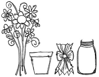 "Bouquet (2 3/8"" x 4 3/4') Jar (1 1/4"" x 2 1/4"")"