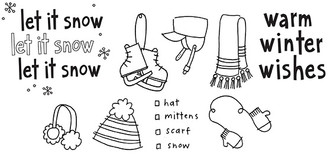 "warm winter wishes (1 5/8"" x 1 1/2"") Skates (1 1/8"" x 1 3/4"") Hat (1 1/4"" x 1 1/4"")"