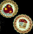 "10"" High Apple Basket Plate (2 Assorted)"