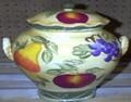 "European ""Tuscany"" Fruit Cookie Jar"