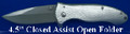 Silver Liner Lock Blade Assisted Opening Knife