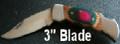 Multi Color Wood handle Lock Blade Knife