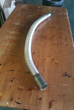 "1.75"" TRUFLEX STAINLESS FLEXIBLE EXHAUST PIPE BEND TO SUIT 1 METRE LONG"