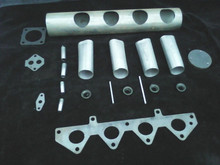 ROVER K SERIES BASIC KIT  ALL PARTS ARE MILD STEEL SO WILL MIG, TIG, GAS WELD OR BRAZE TOGETHER.       BUILD A CUSTOM PLENUM CHAMBER IN AN HOUR  This will involve welding, cutting and drilling        KIT CONTENTS  8mm SURFACE GROUND HEAD FLANGE 4X  INLET PIPES 45mm OD 1X PLENUM WITH PRE CUT HOLES 1X THROTTLE BODY PLATE 4X RIBBED SPOUTS  1x  IRV PLATE 1X  MAP SENSOR PLATE 1X  PLENUM ENDCAP 4X  INJECTOR BOSSES 2X  FUEL RAIL MOUNTS    PLEASE NOTE THESE ARE DIY KITS TO BE WELDED TOGETHER BY YOU