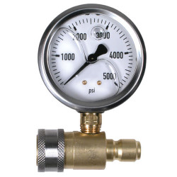 "Pressure Washer Quick Connect 2.5"" Pressure Gauge 5000psi 