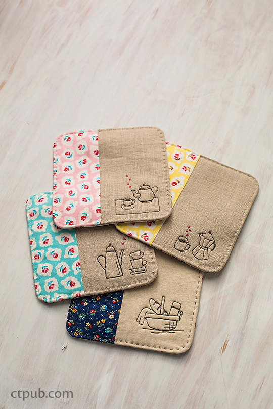 Sew Illustrated Coasters Free Project C Amp T Publishing