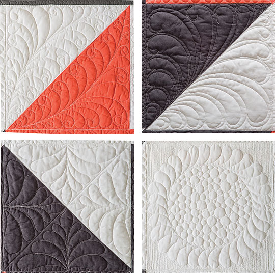 How To Quilt Curly Feathers Ct Publishing