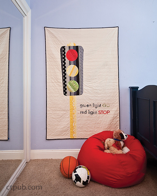 Stop. Go. Quilt. Sew!: Make 12 Fun Projects for Boys to Enjoy by Angela Yosten