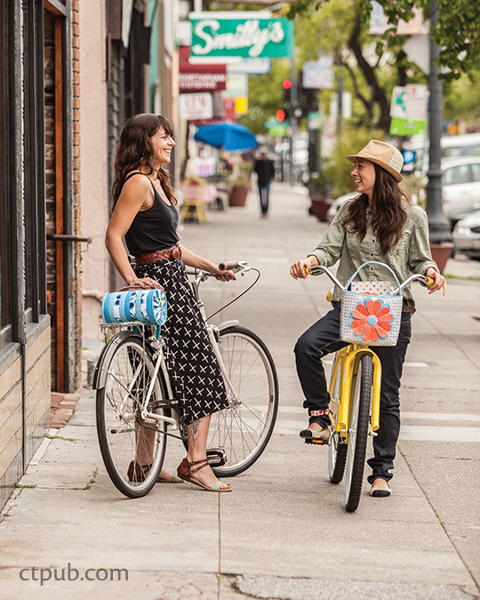 Cute project from The Happy Bicycle: Make 15 Stylish Bike Accessories with Hemma Design