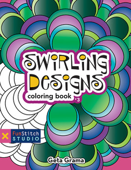 Swirling Designs Coloring eBook