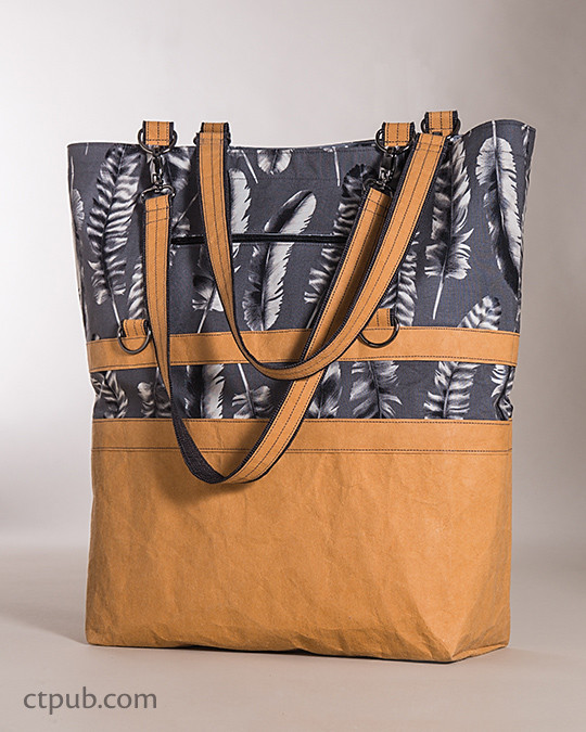 The 3-in-1 Betsy Bag by Betsy LaHonta featuring Black & White Fabric by Jennifer Sampou