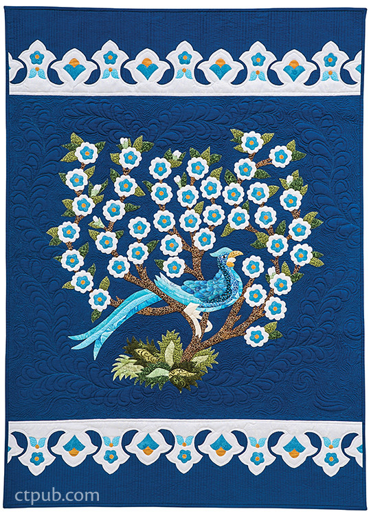 Constantinople Quilts: 8 Stunning Appliqué Projects Inspired by Turkish Iznik Tiles by Tamsin Harvey #ConstantinopleQuilts