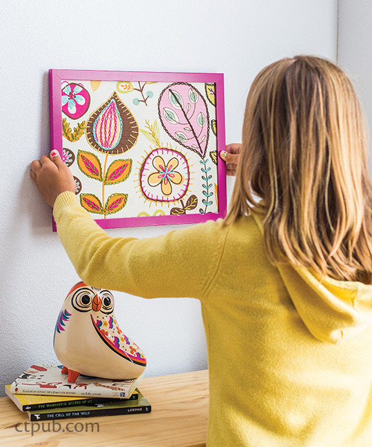 Stitched wallhanging from The Amazing Stitching Handbook for Kids: 17 Embroidery Stitches • 15 Fun & Easy Projects by Kristin Nicholas #TheAmazingStitchingHandbookforKids