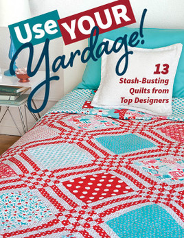Use your yardage to make these 11 stash-busting quilts! These projects have short materials lists and big, bold designs from some of your favorite designers, including Alethea Ballard, Natalia Bonner and Kathleen Whiting, Alissa Haight Carlton, Cherri House, Amanda Murphy, Camille Roskelley, Kim Schaefer, Sweetwater, Amy Walsh, and Angela Walters. The quilts lean toward a modern aesthetic but use traditional techniques like such as chain piecing and symmetry for patchwork that goes together fast!