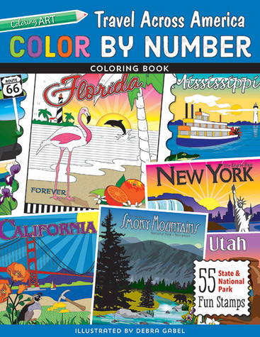 Color by Number Travel Across America Coloring Book