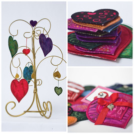Free Project: Fabric and fast2fuse Heart Ornaments