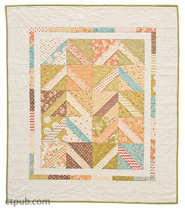 Diagonal Strips Baby Quilt