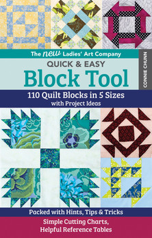 This updated block tool includes 110 traditional blocks, each with instructions for 5 sizes, design details, constructions diagrams, inspiration blocks, projects, and much more!
