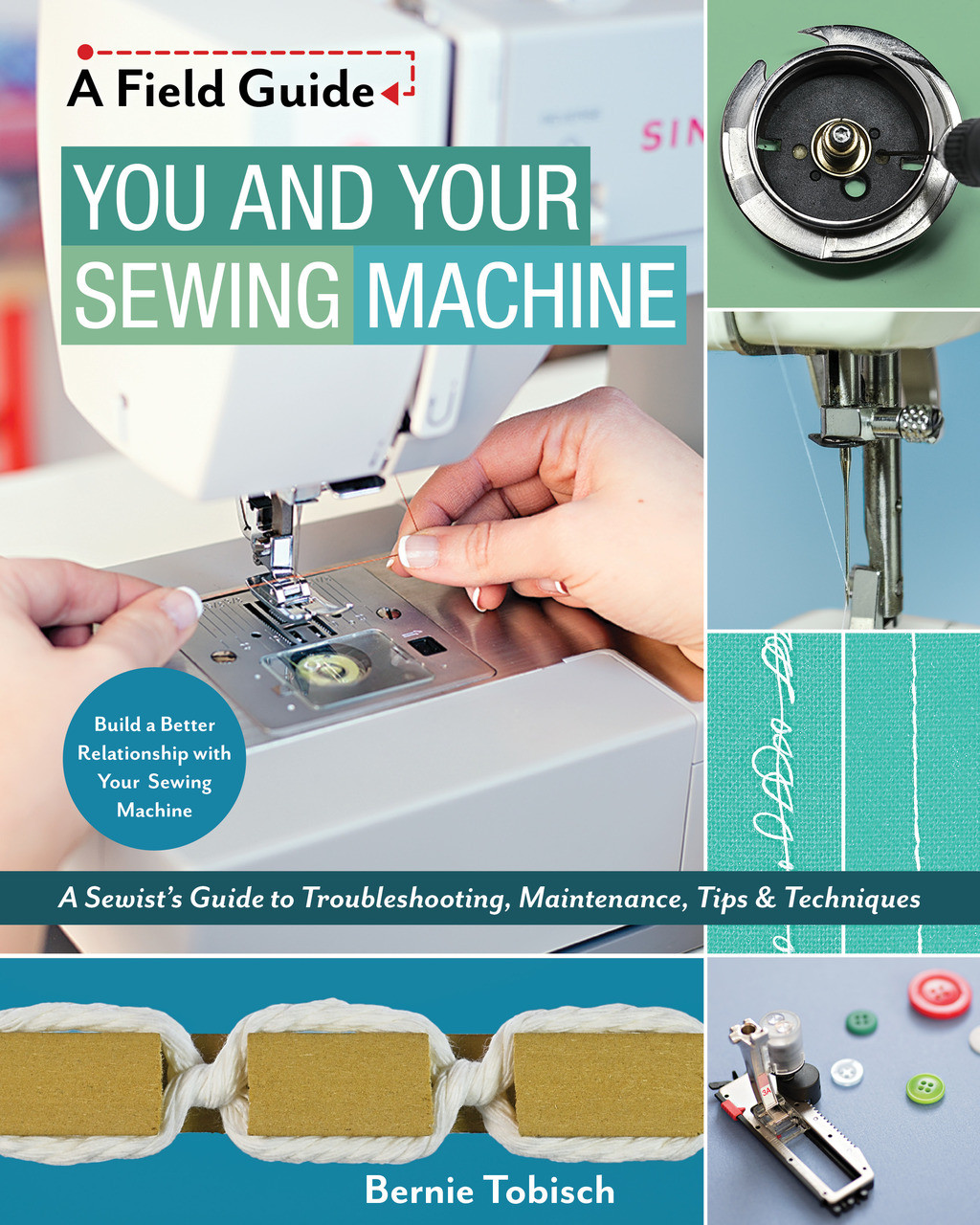 From the sewing machine whisperer comes this in-depth, visual guide to how a sewing machine works, how to keep it in good working order, and how to solve common problems.Perfect for sewists and quilters of all levels, this friendly approach to learning about and troubleshooting YOUR sewing machine gives you the tools you need to sew and quilt with less frustration and better results!