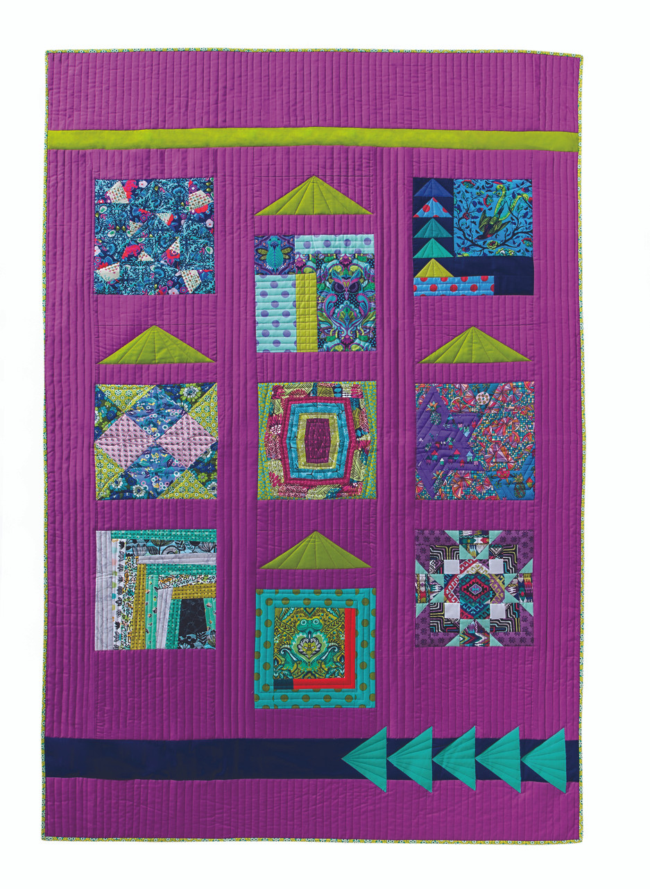 Modern quilting meets traditional thanks to FreeSpirit designers. Tula Pink, Amy Butler, Kaffe Fassett, Anna Maria Horner, Denyse Schmidt, Kathy Doughty, and more to rose to the occasion when presented with the challenge to put a modern spin on classic blocks. You won't believe what they made! With forty inspiring quilt blocks from twenty designers working in their own fabrics, this mix-and- match block collection comes with five sampler-quilt projects. Sew patchwork, appliqué, and paper-pieced blocks.