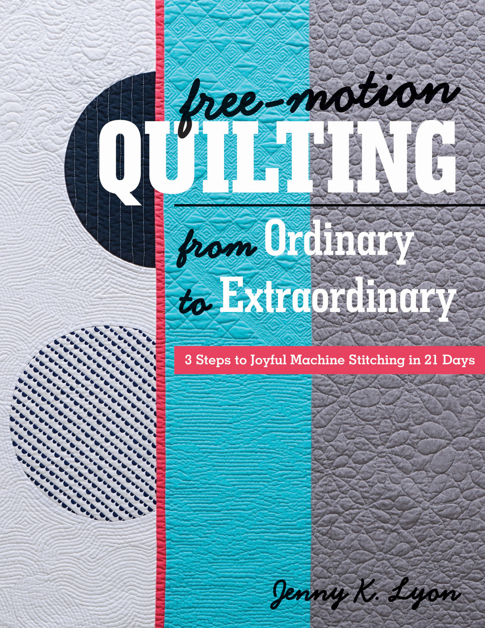 "Find the courage to take on any free-motion quilting project in twenty-one days! Move beyond the basics with an easy, three-step process to move you from ordinary and extraordinary quilting. Learn how your choice of thread, fabric, and batting can improve your experience; create your own quilting motifs; and finally finish those ""special"" quilts. With five projects to shape your skills, this workbook will help you put the fun back in quilting again."