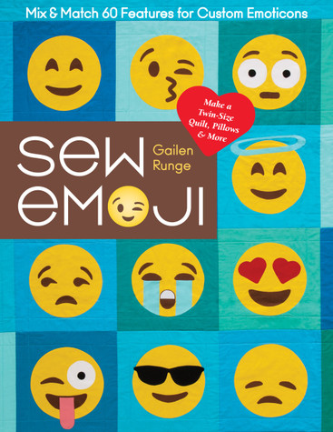Make this darling bedroom set for your favorite kid, young adult, or anyone young at heart! Combine thirty-five popular emojis to create four projects—a twin-size quilt, throw pillows, a pillowcase, and a bolster. Then mix and match sixty facial features with suggestions for thirty additional emoji faces, plus four popular hand emojis  and the strangely popular poop emoji. With beginner-friendly instructions, this book has everything you need to know to sew emojis!