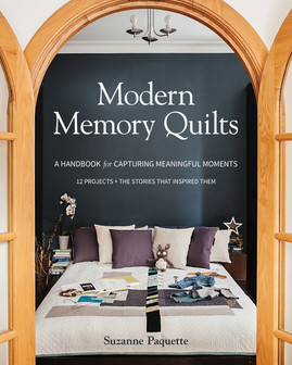 Learn to incorporate treasured clothing into heirloom quilts without sacrificing your modern aesthetic. Stitch memories together forever with 12 quilt projects that are as meaningful as they are stylish! Modern heirloom quilter Suzanne Paquette shares the emotional, creative, and technical aspects of memory quilting through colorful storytelling and photography. Practical projects inspired by real families' stories will help you celebrate love, provide comfort, and honor your family's heritage.