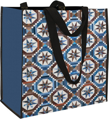 • Heavy-duty, oversized tote bag with easy access opening, shoulder straps, and sturdy stitching • Bottom panel reinforced for standing upright and carrying books, sewing projects, and more • Gorgeous printed bag shows off scrappy detail and quilted texture