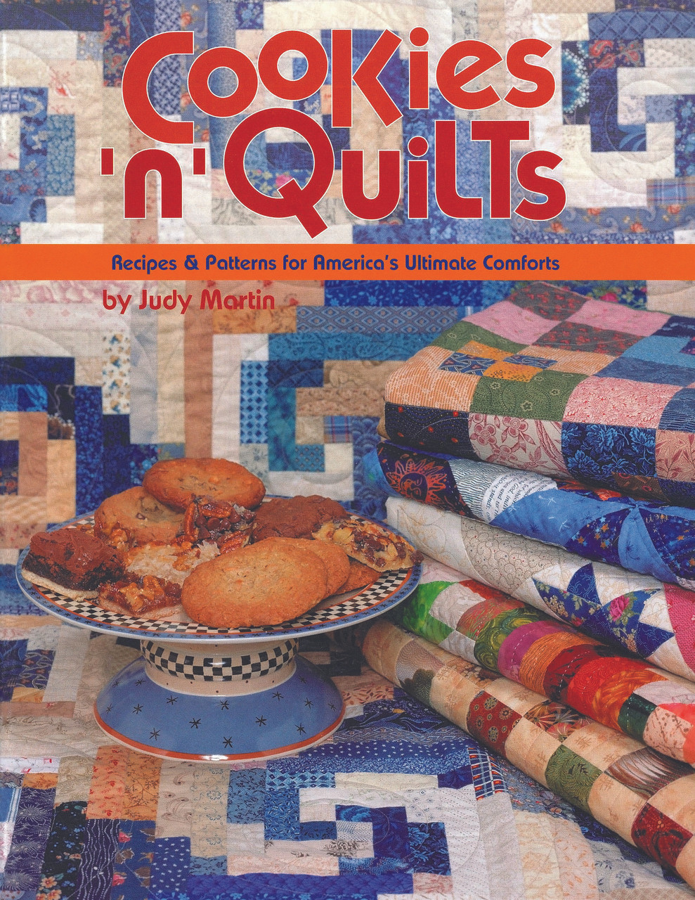 8 complete quilt patterns and 10 cookie and bar recipes (plus 1 nutty variation and 1 frosting recipe). Cookies and quilts have long been associated with warmth and comfort, with reassurance and love. So it's only natural that Judy Martin bring these two icons of the happy American home together in one delicious book. Cookies 'n' Quilts has everything you need to make perfect quilts: color photos and illustrations, complete color-coded rotary cutting instructions, full-size templates, and quilting motifs. And because the patterns come from Judy Martin, you know they are completely accurate. All the quilts in the book superimpose one quilt pattern over another. Whether she is putting flowers over an Irish Chain or introducing a star into another star, she is combining traditional elements in unique and exciting ways.