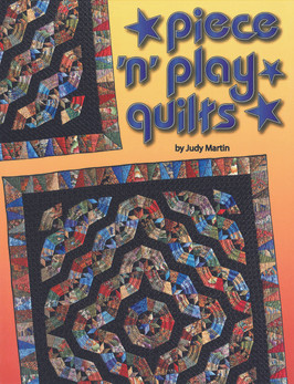 "Shakespeare knew it when he said, """"The play's the thing."""" Judy Martin knew it when she decided to write Piece 'n' Play Quilts. Now you can find out for yourself: It really is more fun and more satisfying when you can follow a pattern and yet achieve your own unique look by playing with the arrangement of the blocks. Each of the 12 patterns comes with full-size pattern pieces with grain arrows and trimmed points. 11 of the patterns are presented with accurate rotary instructions and illustrated cutting layouts. The 12th pattern (Steve's Star) is presented with paper foundation piecing. You can't fail to make a beautiful quilt every time you sit down and play with Piece 'n' Play Quilts. Quilters have been playing with blocks ever since the first Log Cabin was stitched, but Piece 'n' Play Quilts is far more than just Log Cabins. Any asymmetrical block that makes secondary patterns when turned in different directions is a Piece 'n' Play quilt. Drunkard's Paths, Fans, and Rail Fences lend themselves perfectly to Piece 'n' Play fun. In this book Judy Martin has designed some fabulously simple variations on these tried and true favorites. Isn't it time you made a play date with Piece 'n' Play Quilts?"