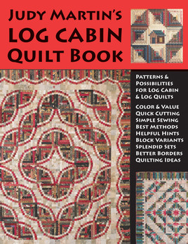 "Judy Martin's Log Cabin Quilt Book would be a great book even if it had nothing other than its 16 beautiful quilt patterns. But there's more, so much more. An entire chapter is devoted to borders, complete withæ17 sumptuous photographed examples and 16 illustrations of borders you can add to your Log Cabin quilt. Another heavily illustrated chapter discusses the many possibilities for settings. Judy shows numerous photographic examples and then goes on to provide 66 illustrations of sets you can use for almost any Log Cabin. A chapter is given over to how to quilt Log Cabins, complete with mouth-watering closeup photographs. Judy provides inspiration and information for quilting your Log Cabin your way. You'll find a conversion chart that enables you to change the width of the logs you use. If Judy used a 1"""" finished log and you want to make the quilt with a 1-1/2"""" log, you can do it as easily as you can turn a page. Other important sections discuss the importance of light and dark values in your fabric selection for a Log Cabin; how to achieve a perfect seam allowance; how to press seams; why cutting lengthwise strips is so important for Log Cabins; how to cut lengthwise strips; how to keep track of logs of varying lengths; and much, much more. See for yourself why quilters who want to get serious about making beautiful quilts turn to Judy Martin again and again. Judy MartinÍs Log Cabin Quilt Book will inspire you to make great quilts!"