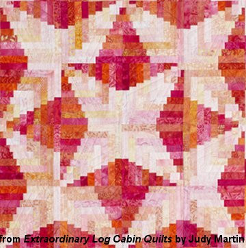 Extraordinary Log Cabin Quilts features: 15 complete and accurate patterns in multiple sizes; beautiful pieced borders gracing every quilt; 300 color diagrams; 175 gorgeous photos; an in-depth discussion of color and value with lots of photographs; a way to test your seam allowance and how to then make it perfect; diagrams showing which direction to press the seam allowances; and a method for keeping track of logs of varying lengths. Each pattern has a big color photo of the entire quilt; a closeup photo showing fabric and quilting; a photo of an additional block made in a different color scheme and fabric; 14 or more drawings of alternate settings and/or color schemes; fat quarter requirements; patch quantity requirements; quilt size, block size, and log width listed; piecing diagrams, complete with what direction to press the seams and what order to sew the patches; quilt construction diagrams for two sizes; ratings for ease of cutting, sewing, and planning; and quilting suggestions.