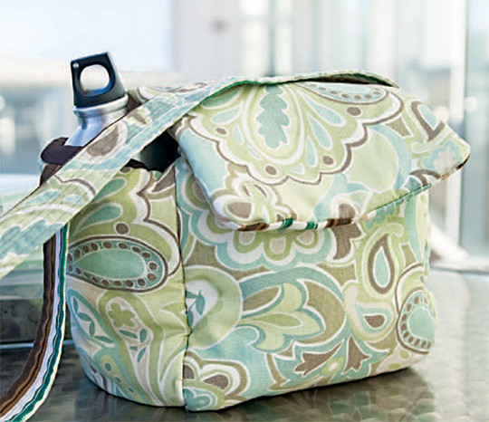 This adorable insulated lunch bag is made with Insul-Fleece