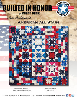 Alex Anderson's American All Stars Quilted in Honor Benefit ePattern