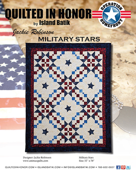 Jackie Robinson's Military Stars Quilted in Honor Benefit ePattern