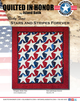 Ricky Tims' Stars and Stripes Forever Quilted in Honor Benefit ePattern