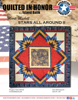 Marti Michell's Stars All Around II Quilted in Honor Benefit ePattern