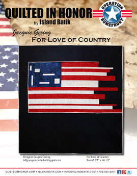 Jacquie Gering's For Love of Country Quilted in Honor Benefit ePattern