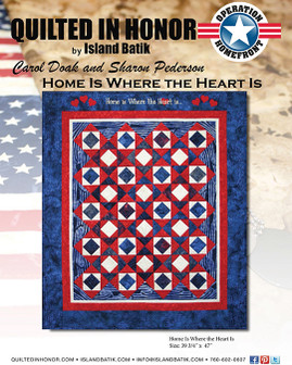 Carol Doak & Sharon Pederson's Home is Where the Heart is Quilted in Honor Benefit ePattern