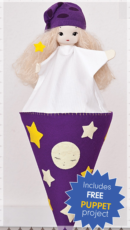 Project instructions for this puppet toy is included in the Timtex Interfacing Pack