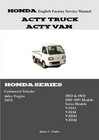 Honda Acty English Factory Service Manual JD-3