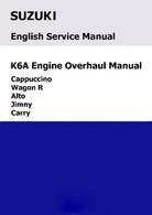 Suzuki K6A Engine Overhaul Manual JD-17