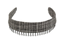 Headband - Black and White Crosshatch