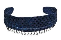Headband - Navy Blue Confetti
