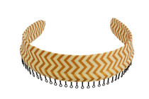 Headband - Cream Chevron with Gold Shimmer