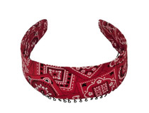 Headband - Red Bandana Scarf