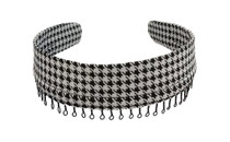 Headband - Black and White Houndstooth