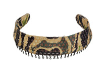 Headband - Satin Camouflage with Sequins