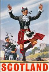 Scotland Travel Poster Kilts - Premium Diamond Painting - Square - 50x70 - Free Shipping