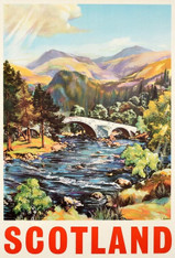 Scotland Travel Poster Landscape - Premium Diamond Painting - Square - 50x70 - Free Shipping